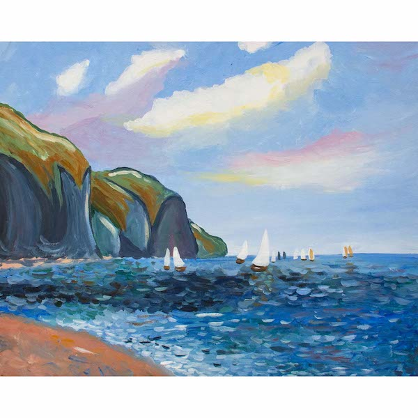 cliffs and sailboats